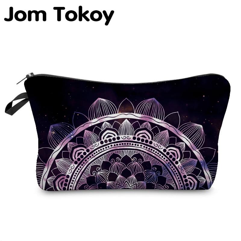 Jom Tokoy 2019 Cosmetic Organizer Bag Make Up Heat Transfer Printing Cosmetic Bag Fashion Women Brand Makeup Bag Hzb911