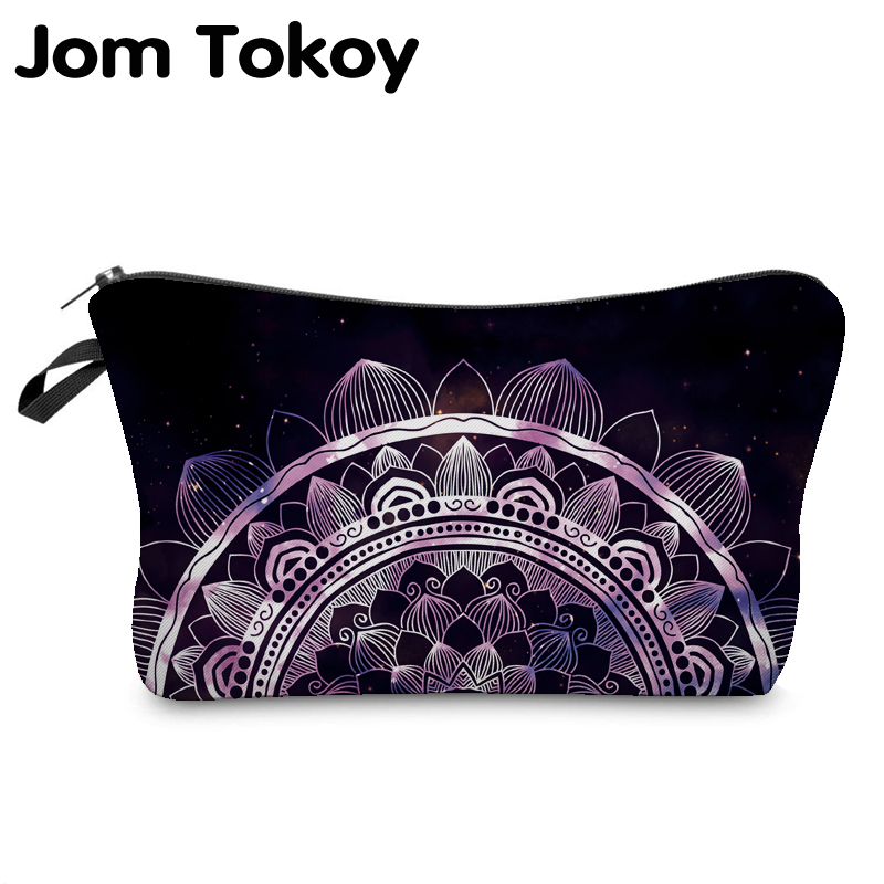 Jom Tokoy Cosmetic Organizer Bag Make Up Heat Transfer Printing Cosmetic Bag Fashion Women Brand Makeup Bag Hzb911