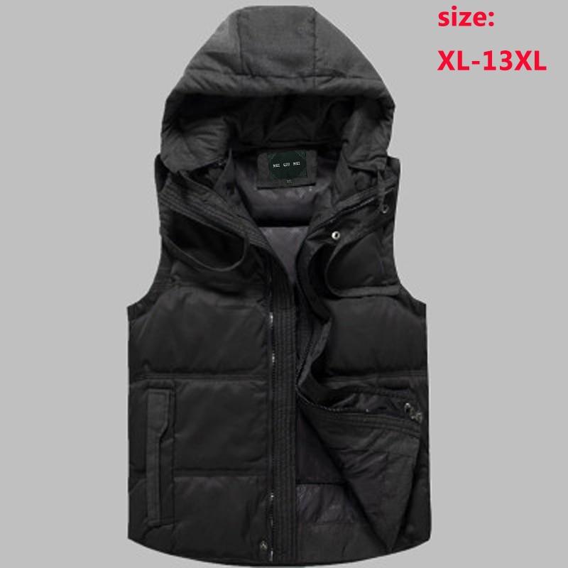 High Quality Men's Down Vest Thick Obese Fashion Jacket Outerwear Plus Size L- 4xl 5xl 6xl 7xl 8xl 9xl 10xl 11xl 12xl 13xl Grade Products According To Quality