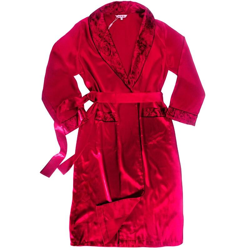 61bbbccb2b Long Bath Gown Mens Satin Robes Silk Robe Silk Rayon Men s Bathrobe Satin  Homewear Lounge Robe Satin Bathrobe Satin Sleepwear-in Robes from Underwear  ...