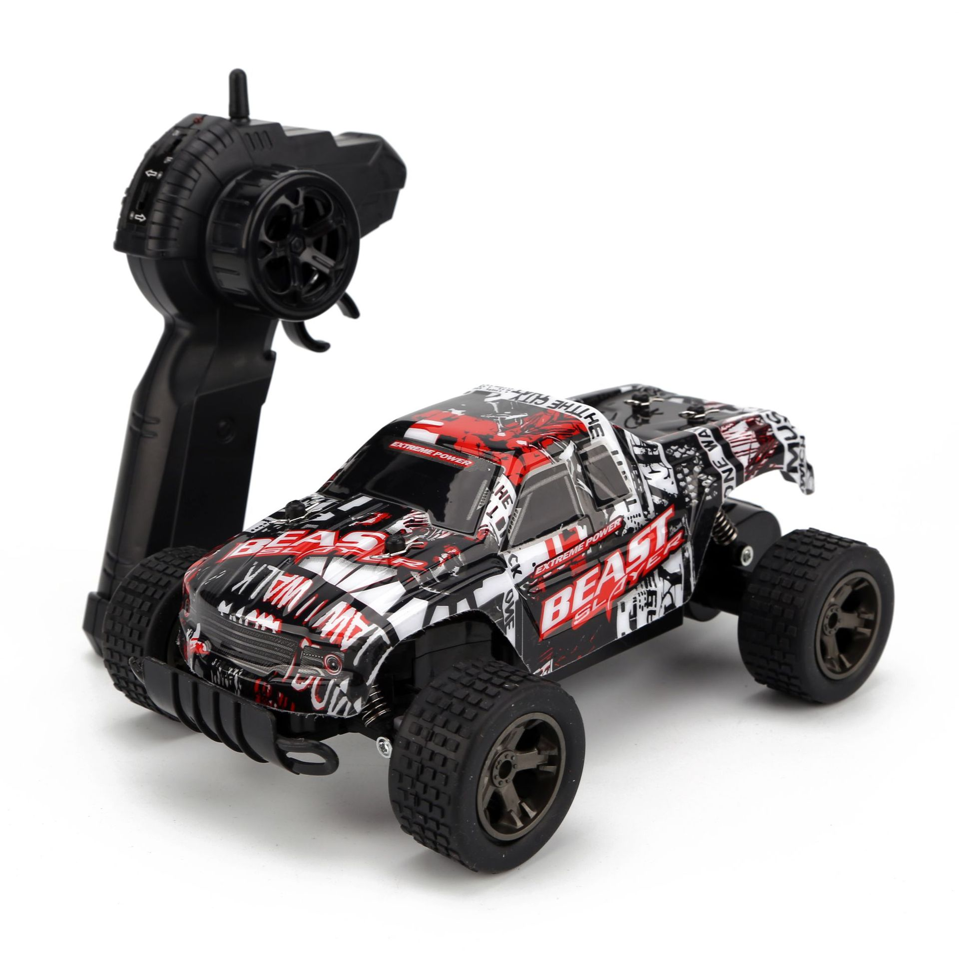 1:18 RC Car 4WD 2.4GHz 15Km/h climbing Car 4x4 Double Motors Bigfoot Car Remote Control Model Off-Road Vehicle Toy