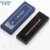 Wood Ballpoint Pen Brand Stationery for School Office Writing Supplies Top Quality Roller Ball Pen With Gifts Box Custom P699
