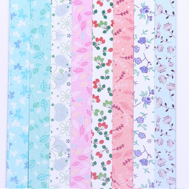 Origami Paper Lucky Star Paper Creative Set Floral Scrapbook Paper