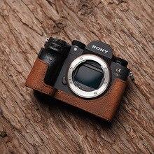 Mr. камень Мужская обувь ручной работы из натуральной кожи Камера чехол видео полуоткрытые тапочки из материала Камера боди для sony A9 A7Riii A7iii MK3 Камера