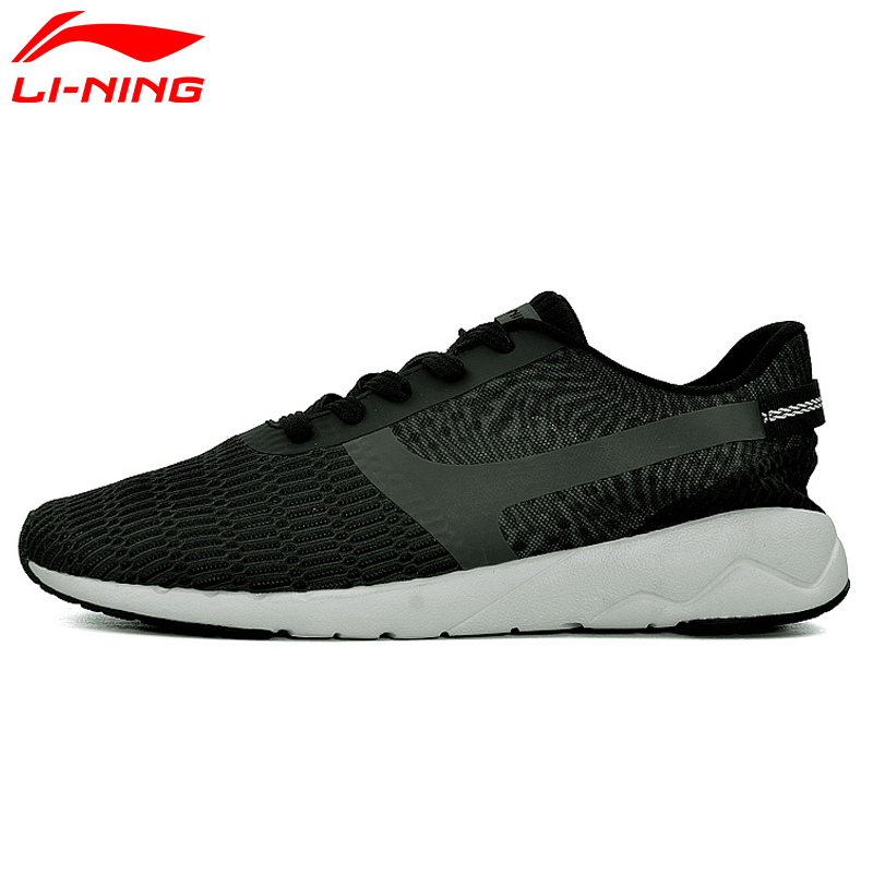 Li-Ning Men's Heather Walking Shoes LiNing Sports Life Breathable Sneakers Light Comfort Sport Shoes AGCM041 YXB041