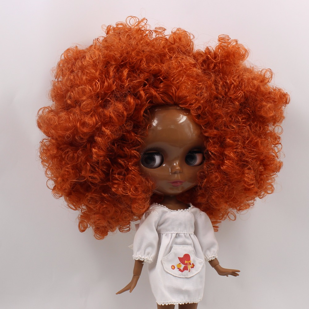 Neo Blythe Doll with Ginger Hair, Black skin, Shiny Face & Jointed Body 4