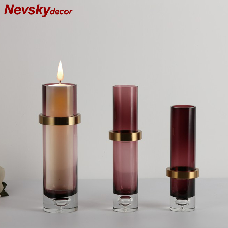 Stained glass Candle Holders Modern home decoration candle candlesticks  stand candles home decoration For toilet bathroomStained glass Candle Holders Modern home decoration candle candlesticks  stand candles home decoration For toilet bathroom