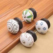 1.57Diameter Ceramic single hole knobs ,European/simple, Wardrobe doors/wine cabinet doors/cabinet doors/drawers handles