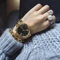 Brand Wristwatches Quartz-Watches Women's Watches Genuine Leather College Wind Domineering Big Gray Diamond Belt