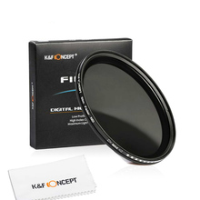 K&F Concept Slim Fader Variable Nd Lens Filter Adjustable Nd2 To Nd400 Neutral Density цена