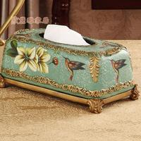 Европейская коробка для салфеток из полимера пасторальные украшения для дома ретро гостиная большой обеденный стол коробка для салфеток н
