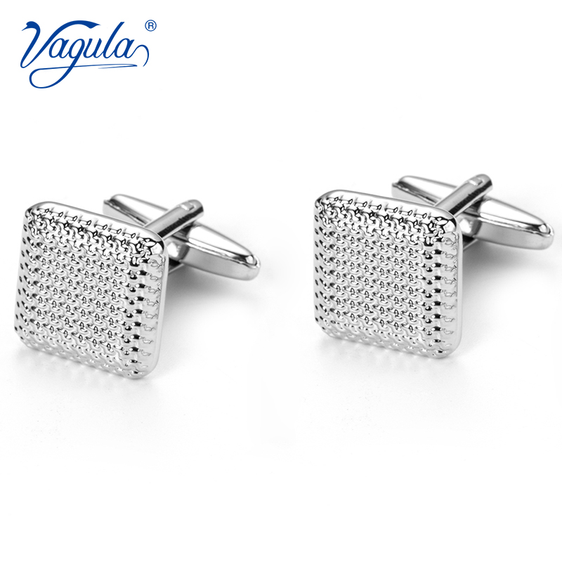 VAGULA Bonito Gemelos Classic Silver-color Copper Men's Cufflink Luxury Gift Party Wedding Suit Shirt  Cuff Links 10170