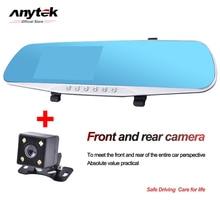 Anytek Night Vision Carro Dvr Câmera detector de Revisão Espelho Azul DVR Gravador de Vídeo Digital Camcorder Auto Traço Cam FHD 1080 P 4.0