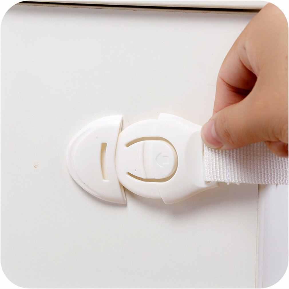 เด็กประตูตู้ลิ้นชักตู้เย็นความปลอดภัยพลาสติกล็อคสำหรับเด็กทารกความปลอดภัย