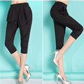 M-6XL Plus Size Trousers For Women Elastic Waist Skinny Trousers Black Women's Fashion Summer Haren Pants 2017 Pantalon Femme