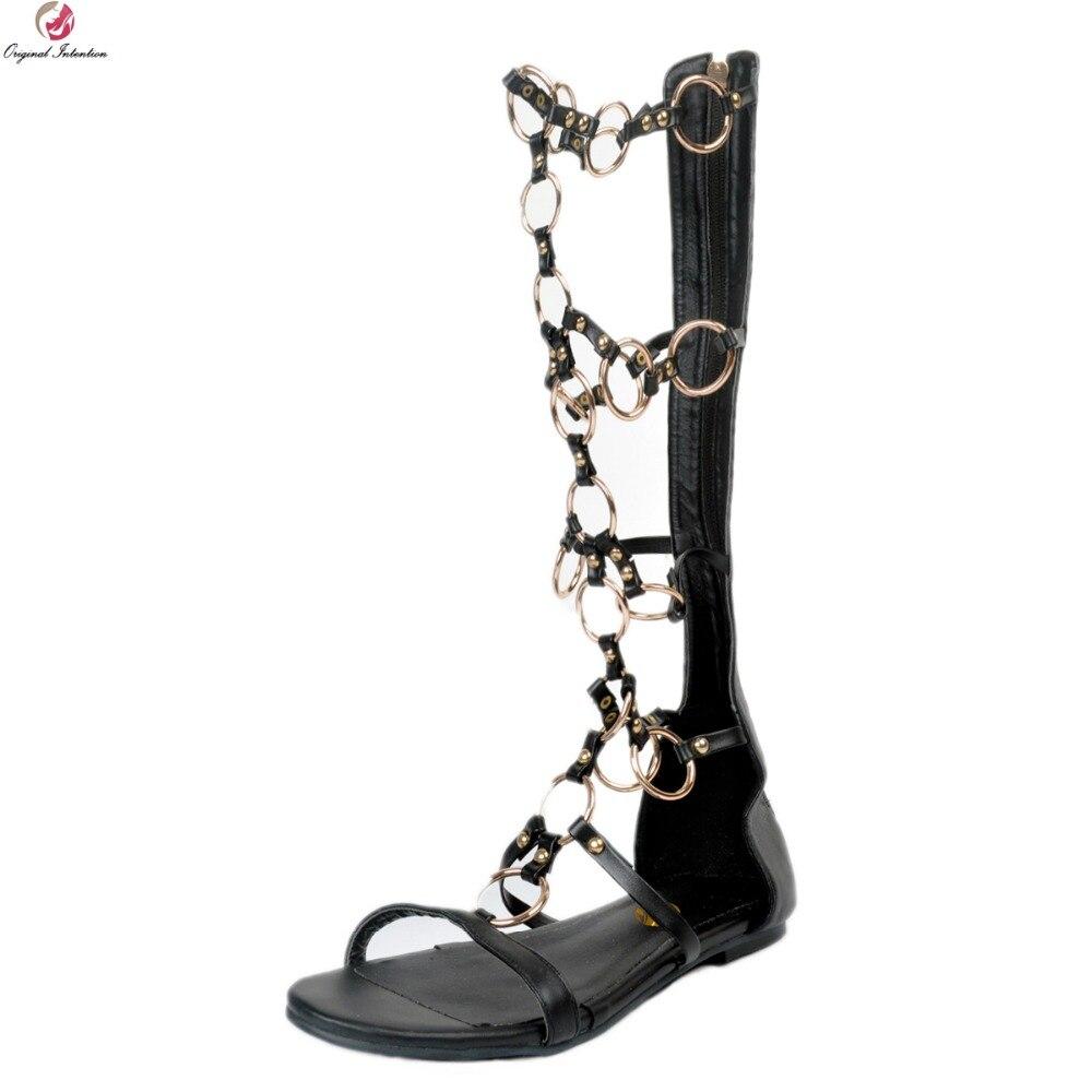 Xd142 Negro 4 15 Estilo Sandalias Intención Mujer Toe Super Original La De Más Tamaño Mujeres Las Zapatos Peep Sexy Bien HTCq7PXxnw