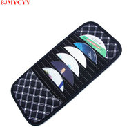 BJMYCYY New Arrival Multi Function Automobile Interior Accessories Auto Sunshade Cover Car Sun Visor CD Holder Phone Hanging Bag