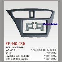 For Honda Civic 2012 Aftermarket Radio Dash Board Kit 2 DIN ABS Plastic Fascias Car Audio Panel Frame Fascia