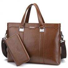 100% Genuine Leather men bag Shoulder Bags Brand New men's briefcase business men's travel bags tote Men messenger bags 2016 new