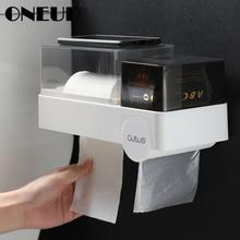 ONEUP держатель для туалетной бумаги настенный водонепроницаемый тканевый ящик мешок для мусора санитарная коробка для хранения салфеток портативные держатели туалетной бумаги