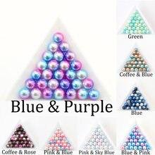 Perle d'imitation ABS de couleur arc-en-ciel 3/4/6/8/10/12mm sans trou perles amples pour la fabrication de bijoux artisanat décoration accessoire de bricolage