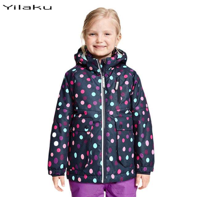 New Year Girls Winter Coat Jackets Kids Hooded Polka Dot Coats For Girls Lighter Outwear Autumn Warm Children's Clothing CH018