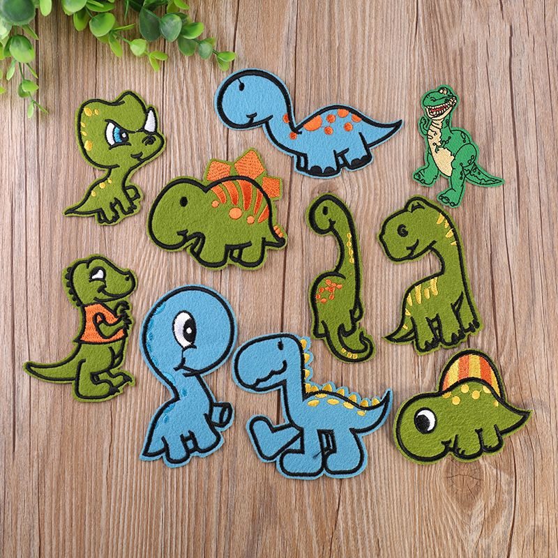 Home & Garden 1 Pc Painting Animals Dinosaur Badges For Clothes Badges Kawaii Icons On Backpack Pin Brooch Badge Decorative New Arrivals Modern Design