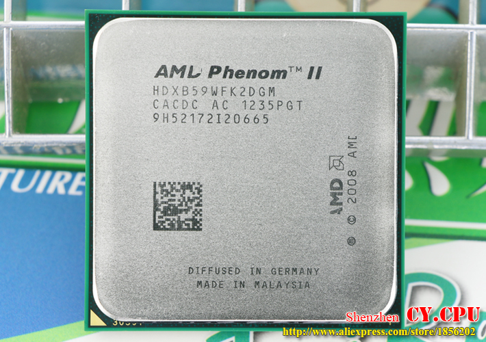 3.4Ghz// 6M //80W // 2000GHz AMD Phenom II X2 B59 CPU Processor Dual-Core Socket Am3 Am2+