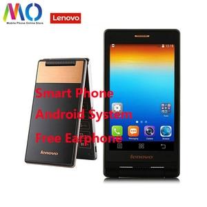 Original New Lenovo A588T Flip Smartphone Mobile Phone Android 4.4 MTK6582 Quad Core 4GB ROM Dual Sim Touch Screen 5.0MP Camera
