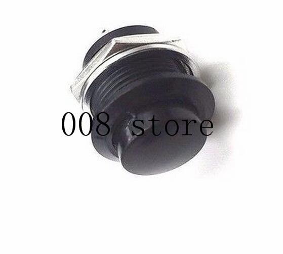 6 шт. 16 мм самовозвратный Мгновенный кнопочный переключатель 6A/125VAC 3A/250VAC R13-507 - Цвет: black
