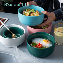 4.5 Inch / 6 Ceramic Bowl Household Tableware Rice Bowls Soup Matte Salad For Kitchen Utensils