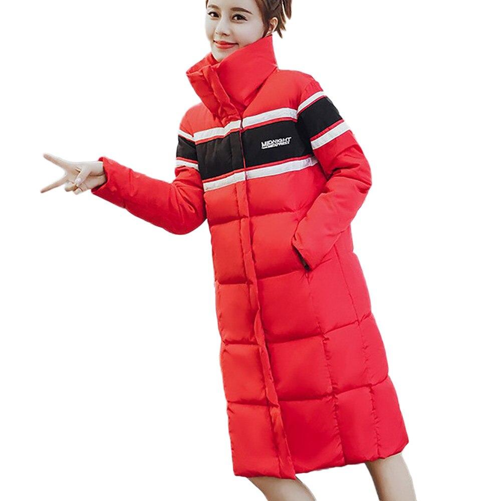 Hiver red Manteau Femmes Casaco Winterjas Fit Vrouwen Outwear Slim Mode Black Vêtements Chaud Veste La De Feminino Féminine Casual d0qwUFqrx