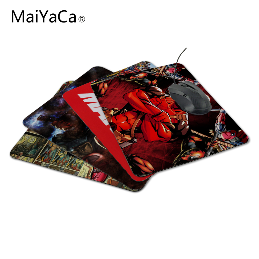 MaiYaCa Fashionable 2017 New Arrival Deadpool Marvel Fans Luxury Printing Anti-Slip PC Laptop Mouse Pad Drop Shipping