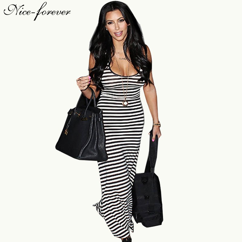Nice Forever Plus Size Fit And Flare Dresses Women Summer