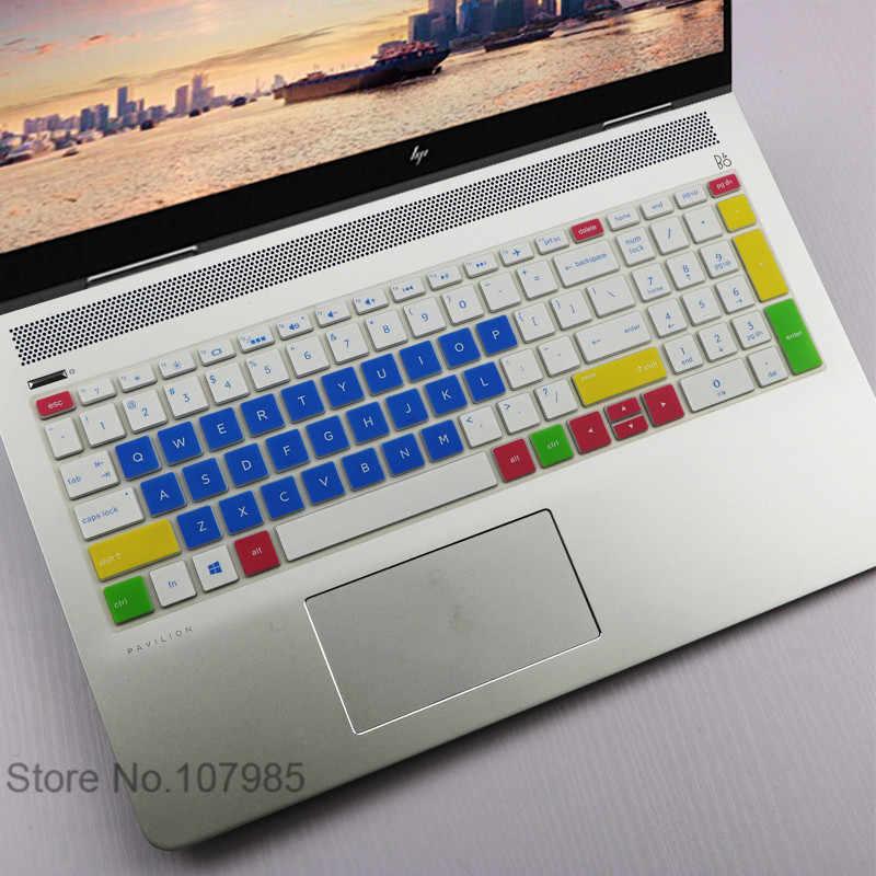 2017 15 15.6 ノートパソコンのキーボードカバー Hp 羨望 x360 15 メートル 15m-bp112dx bp111dx 15m-bp012dx 15m-bq021dx 15m-bq121dx