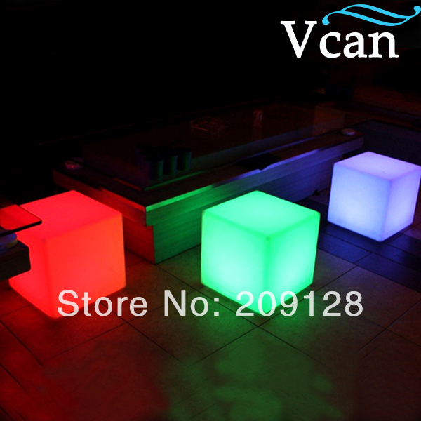 ФОТО Illuminated Waterproof colourful change like white red blue green  LED Stool  30*30*30cm  VC-A300