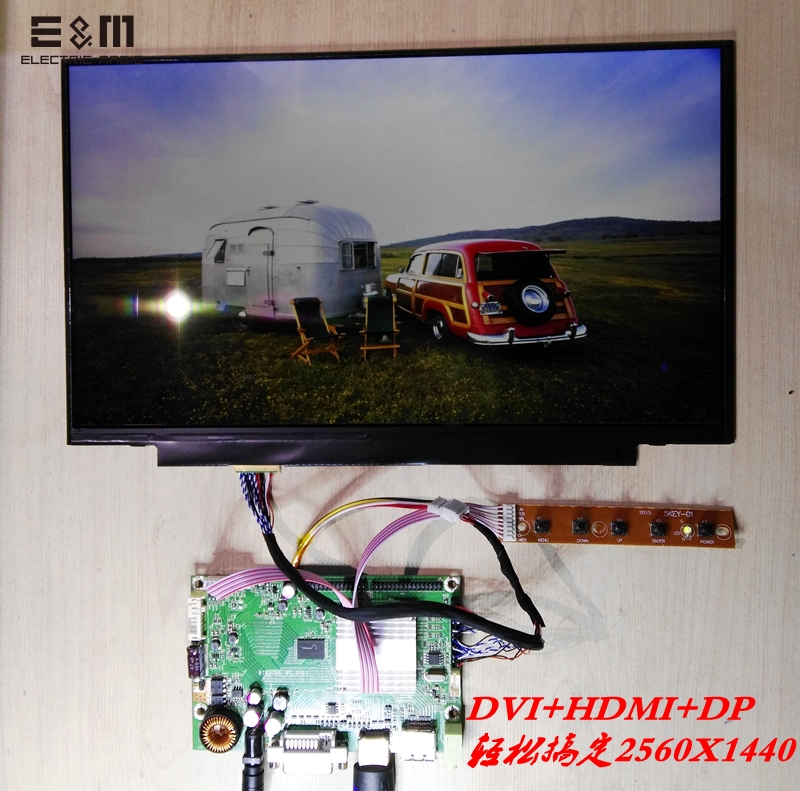 E&M 14 Inch 2560*1440 2K IPS HDMI DVI DP DisplayPort Driver Board Display LCD Screen Monitor For Laptop PC New Original QHD