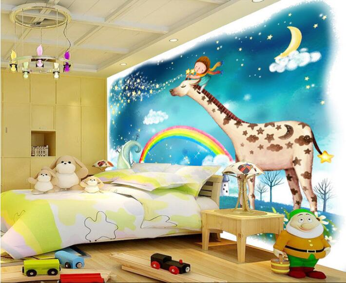 Compare prices on wallpaper rainbow online shopping buy for Custom mural cost