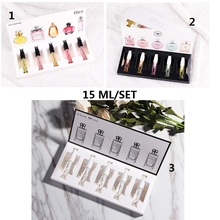 15ml  Perfumed 1 set Brand Scent authentic Q version of sample gift box set of 5 men and women 3ml sample Antiperspirants