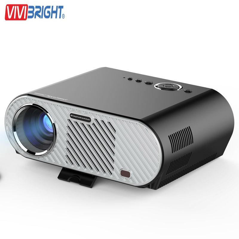 Prix pour Vivibright gp90 led projecteur mini home cinéma proyector 3200 lumen 1280x800 Film Cinéma USB Full HD Vidéo WXGA 720 P HDMI VGA
