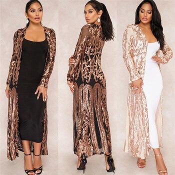 BAIBAZIN New Cloak of the coat African riche bazin dress for women Sexy Sequins Perspective Cardigan Cloak of the One Coat