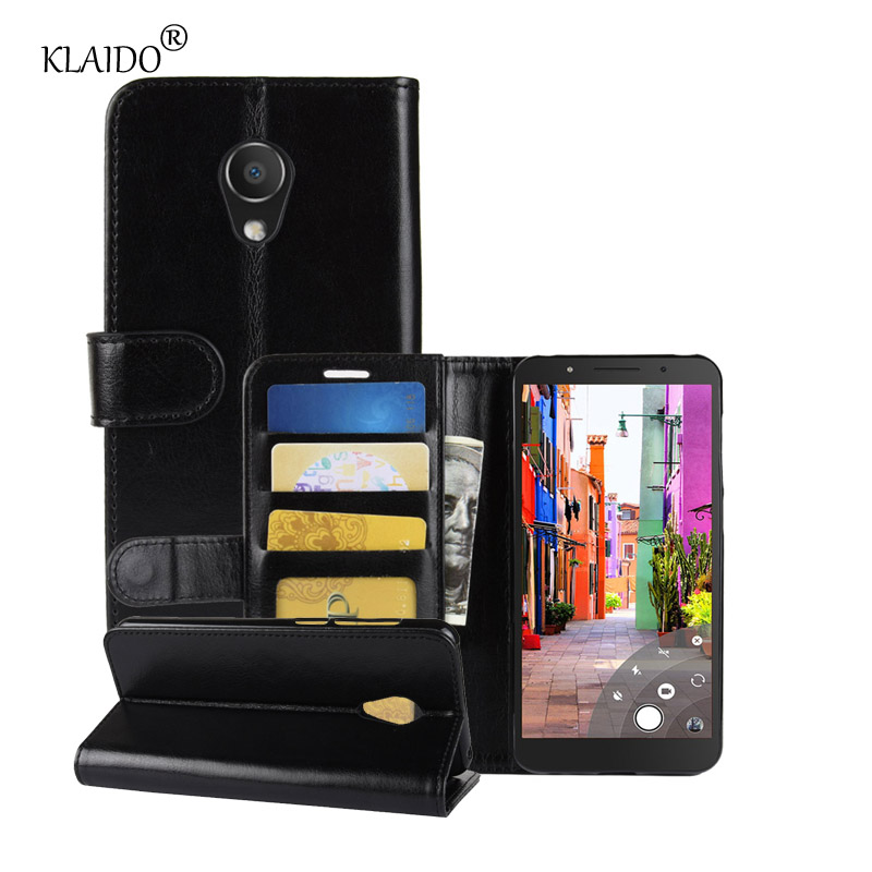 Leather Case For Alcatel 1C Back Case Cover mobile phone