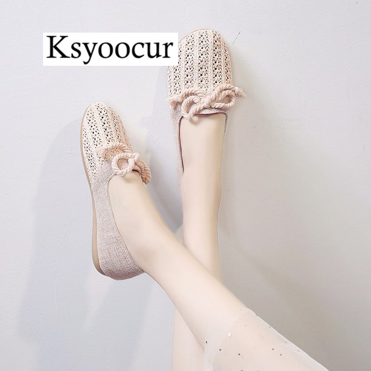 Image 2 - Brand Ksyoocur 2020 New Ladies Flat Shoes Casual Women Shoes Comfortable Round Toe Flat Shoes Spring/summer Women Shoes X03Womens Flats   -