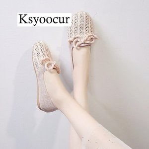 Image 2 - Brand Ksyoocur 2020 New Ladies Flat Shoes Casual Women Shoes Comfortable Round Toe Flat Shoes Spring/summer Women Shoes X03