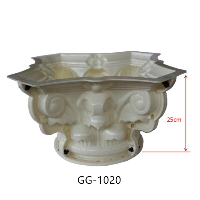 20cm 7 87in Internal Diameter ABS Multi Pattern Durable Round Concrete Roman Pillar TOPMold with Beak
