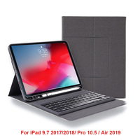 Bluetooth Wireless Keyboard Case for iPad Air 2019 ABS Keyboard Tablet Cover for iPad 9.7 2017 2018 Pro 10.5 With pencil Holder