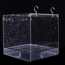 1 шт. пластиковая коробка для ванны с птицей, клетка для попугая, для ванны, попугая, для клетки для домашних животных, подвесная миска, Parakeet, для птичьей ванны, для душа, стоящая коробка