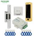 RAYKUBE комплект контроля доступа Электрический блокировочный замок + контроль доступа RFID металлическая сенсорная клавиатура с паролем + ID Бре...
