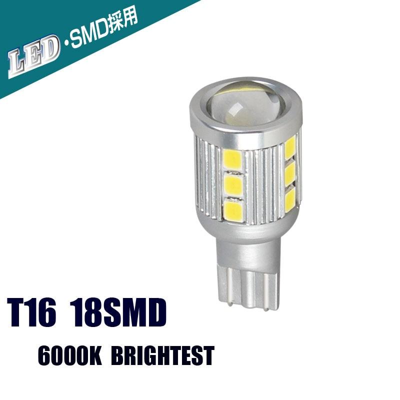 T16 18SMD LED Automobiles Front Turn Signals External Lights White Lights Bulbs 6000K Brightest DC 10V 36V