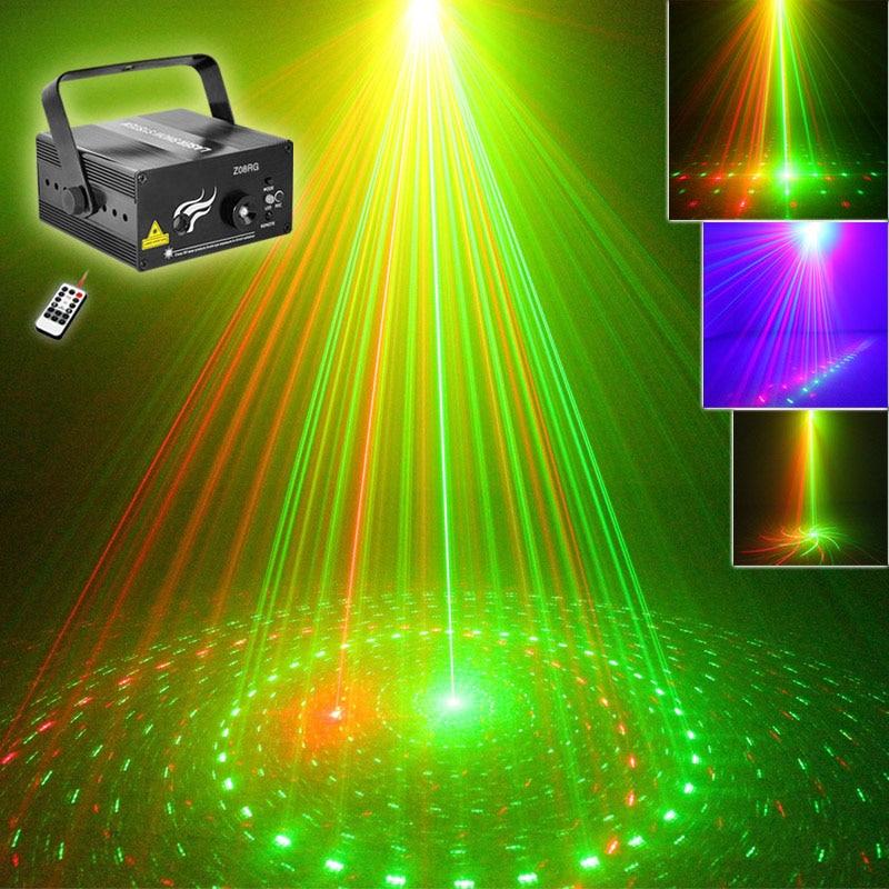 DJ Laser 3 Lens 8 Pattern Club RG Laser BLUE LED Stage Lighting Home Music Party Professional Projector DJ Light Disco Z08RG цена и фото